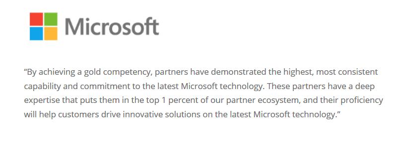Datasharp Central Microsoft Testimonial