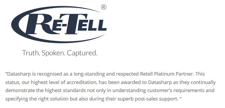 ReTell Datasharp Testimonial