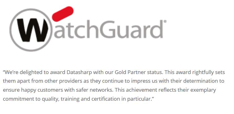 WatchGuard Datasharp Testimonial